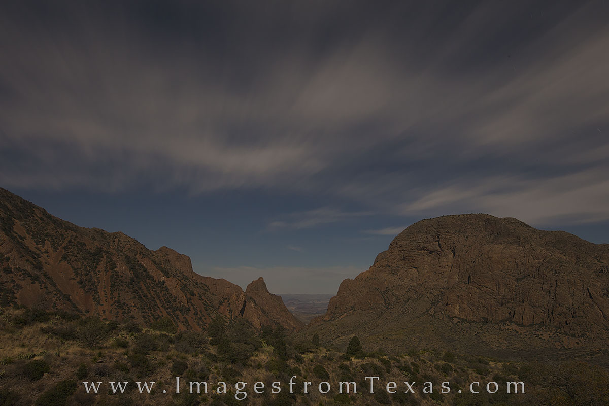 After hiking up and back from the Lost Mine Trail, I stopped by the Chisos Lodge where I could photograph the famous Window View...
