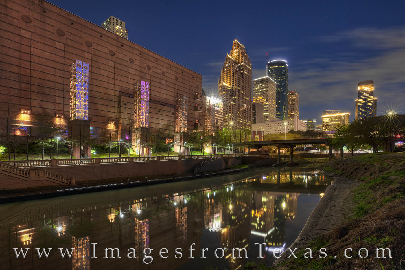 On an evening stroll from the White Oak Bayou to Buffalo Bayou, the pathway takes you by some delightful scenes, incuding this...