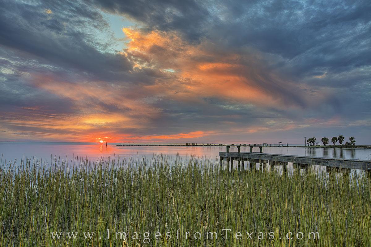 texas coast, texas sunset, ocean sunset, rockport texas, rockport pictures, fulton texas, fishing pier, texas gulf coast, gulf coast photos, port aransas, aransas pass, photo