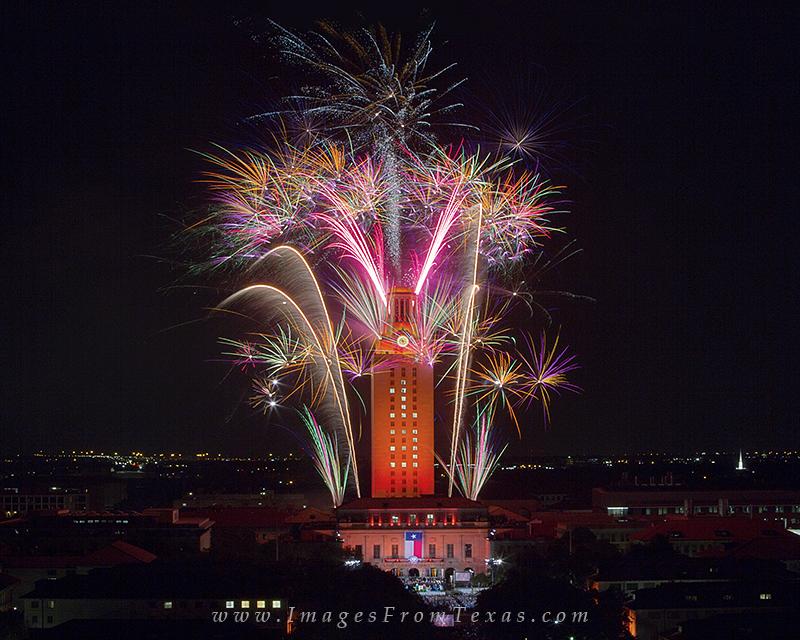 UT Tower Fireworks,Austin Skyline Pictures,Austin Skyline images,UT Graduation fireworks,UT Tower Graduation,UT Fireworks pictures,UT Fireworks,Austin Texas, photo