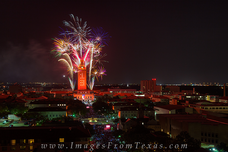 UT Tower fireworks,UT Tower prints,UT Tower Graduation,Texas Tower images,Texas tower fireworks,University of Texas photos, photo