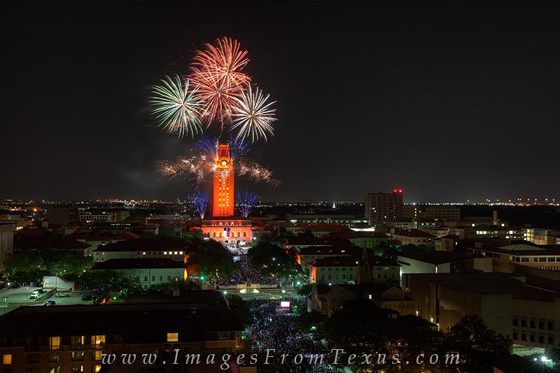 UT Tower Fireworks,Austin Skyline Pictures,UT Graduation fireworks,UT Tower Graduation,UT Tower graduation fireworks,UT Fireworks pictures,UT Fireworks prints,UT Fireworks, photo