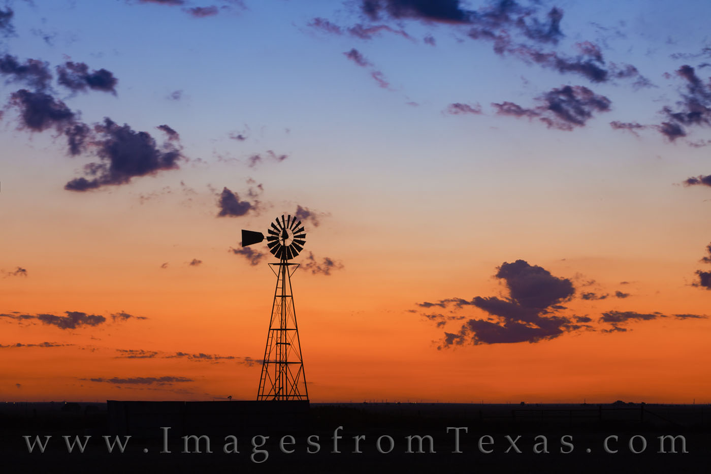 windmill, palo duro, canyon, amarillo, sunrise, orange, blue, morning, pre-dawn, west texas, photo