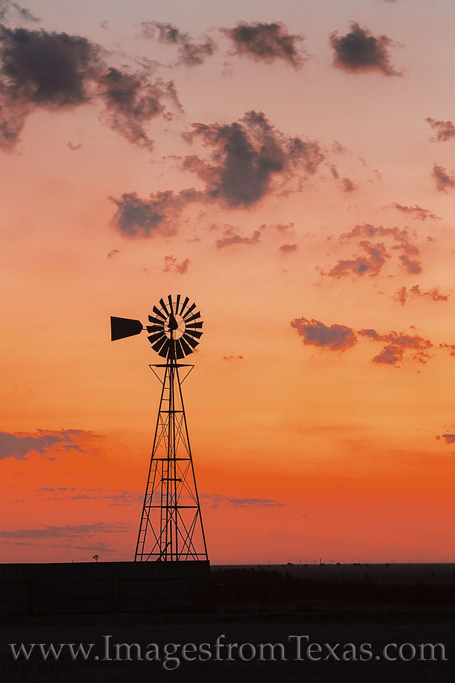 windmill, west texas, canyon, palo duro, sunrise, orange, morning, photo